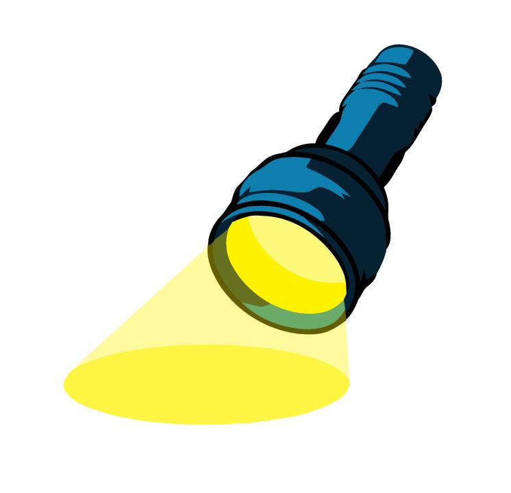 Clip art of flashlight.