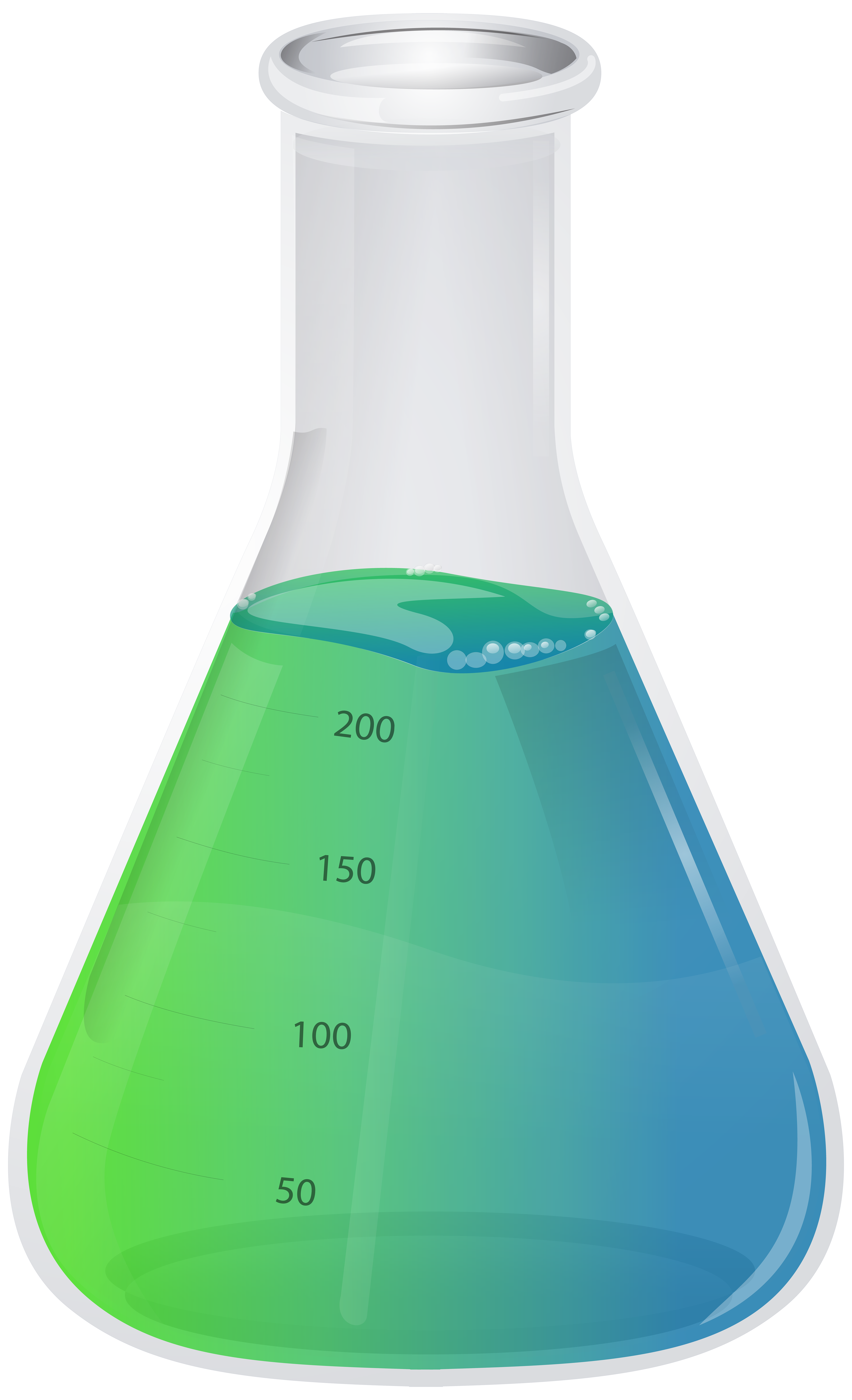 Transparent Flask PNG Clip Art Image.