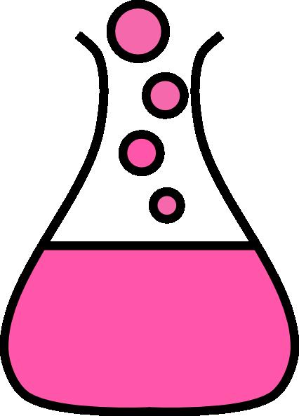 Pink Bubble Flask Clip Art at Clker.com.