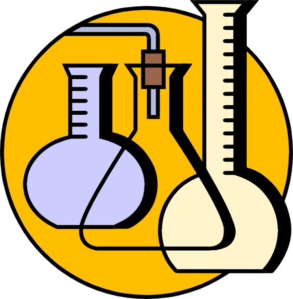 Chemical Lab Flasks clip art Free vector in Open office drawing.