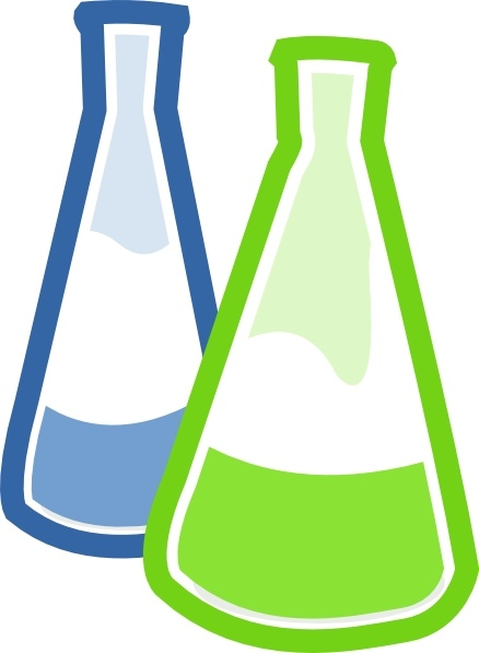 Chemistry Lab Flasks clip art Free vector in Open office drawing.