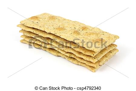 Stock Photography of Small stack of seasoned flatbread crackers.