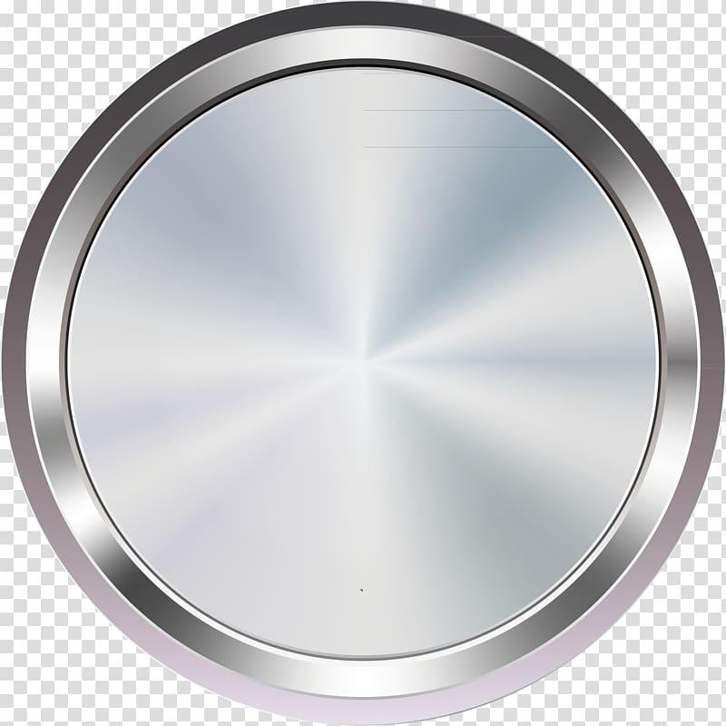 Round mirror tray, Car Button , Flat button transparent.