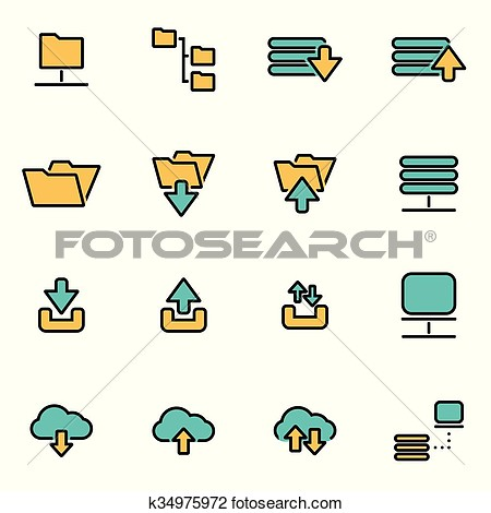 Flat clipart pack.