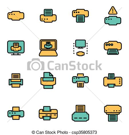 Vectors Illustration of Trendy flat line icon pack for designers.