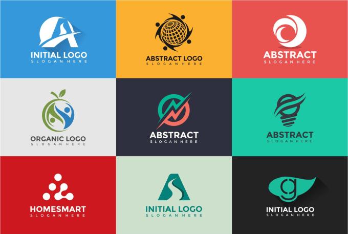 make professional flat logo design.