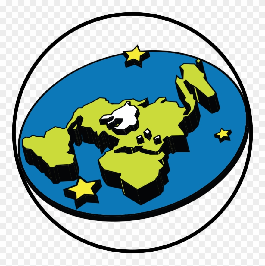 The Flat Earth Society Logo Clipart (#2435121).