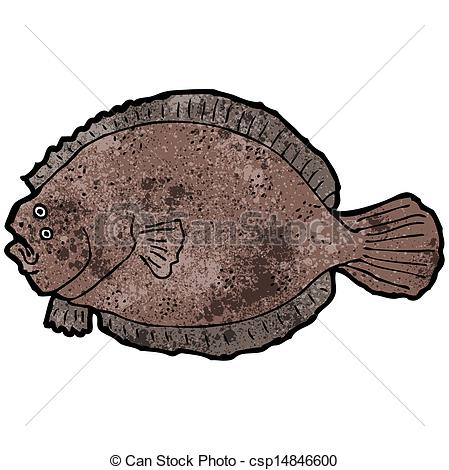Vector Clipart of flat fish illustration csp14846600.