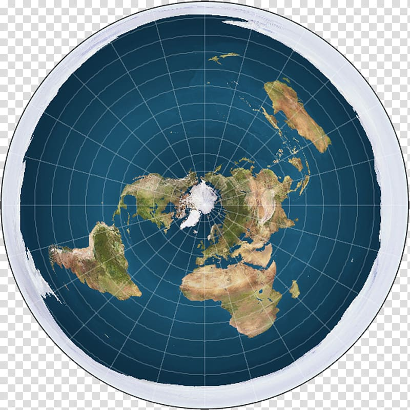 Flat Earth Society Globe World map, earth transparent.