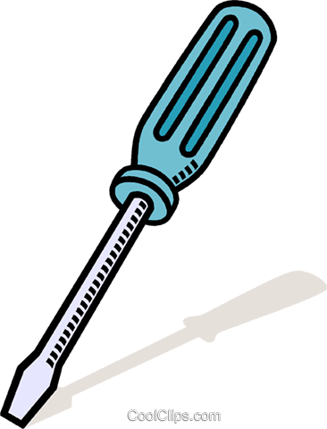 screw driver Royalty Free Vector Clip Art illustration.