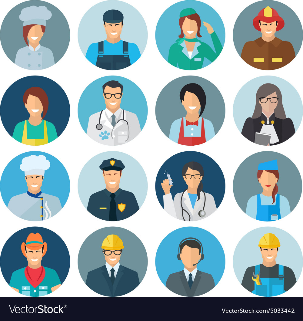 Profession Avatar Flat Icon.