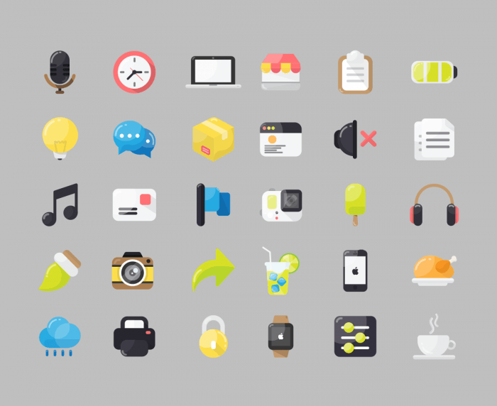30 Free Flat Icon Pack.