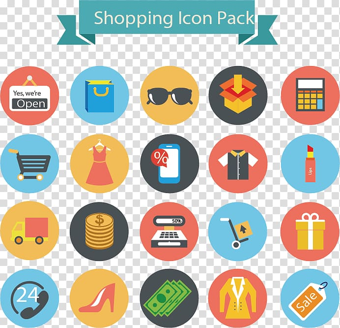 Shopping Icon Pack text overlay, Shopping Icon, Shopping.