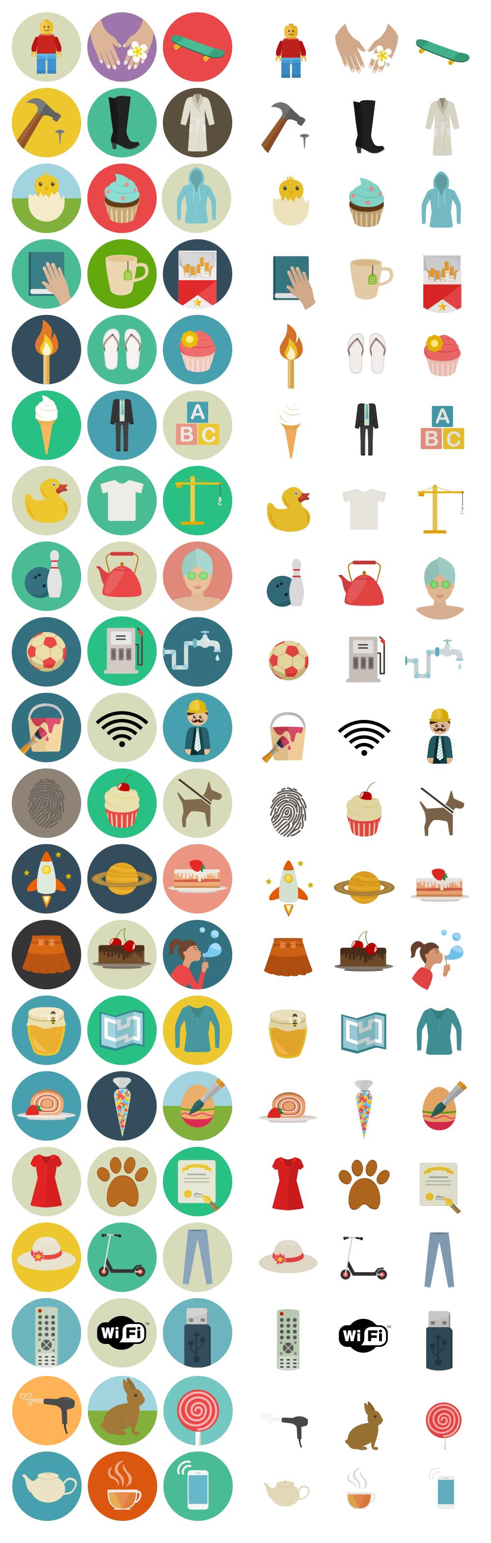 60 Astonishing Flat Icons For Free — Smashing Magazine.