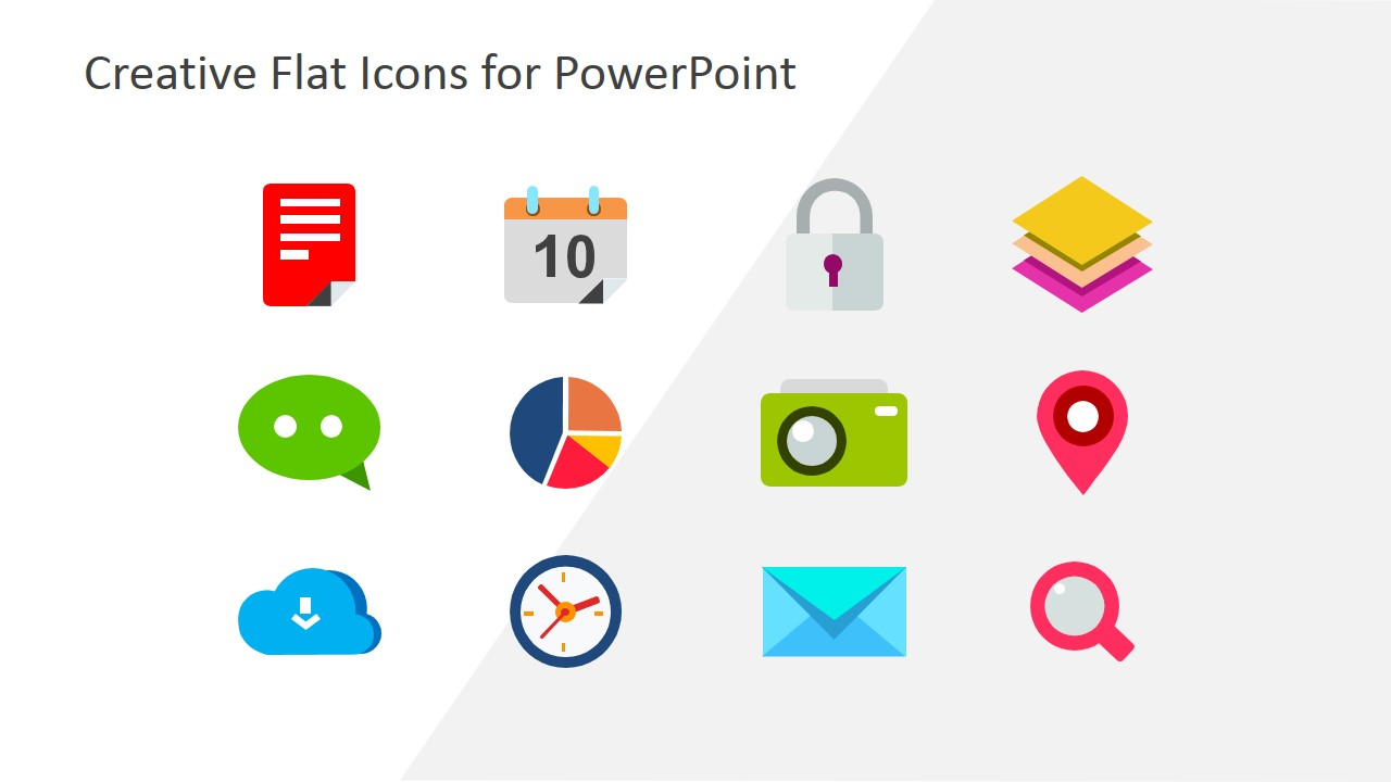 Creative Business Flat Icons for PowerPoint.