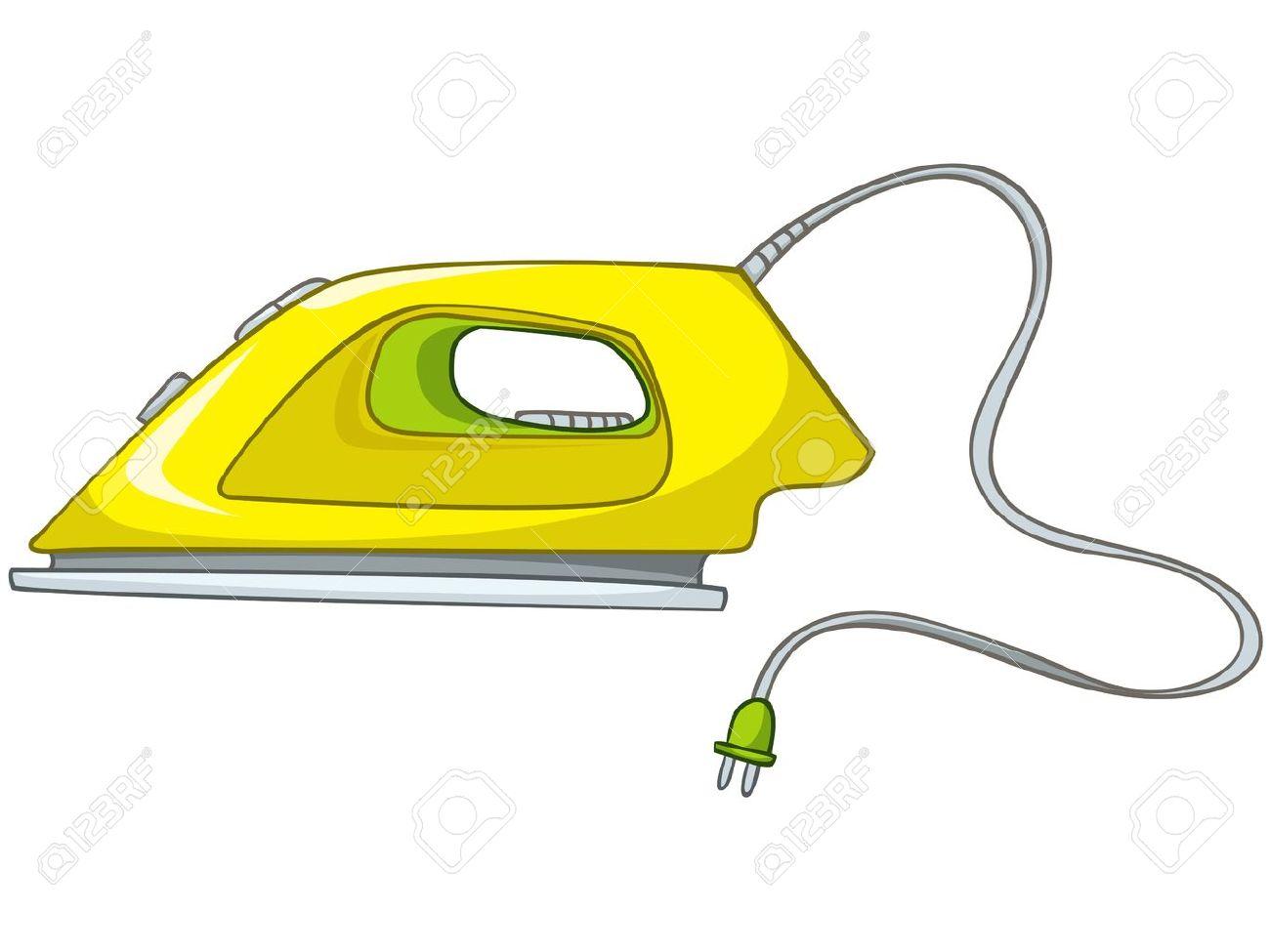 Cartoons Home Appliences Flat Iron.