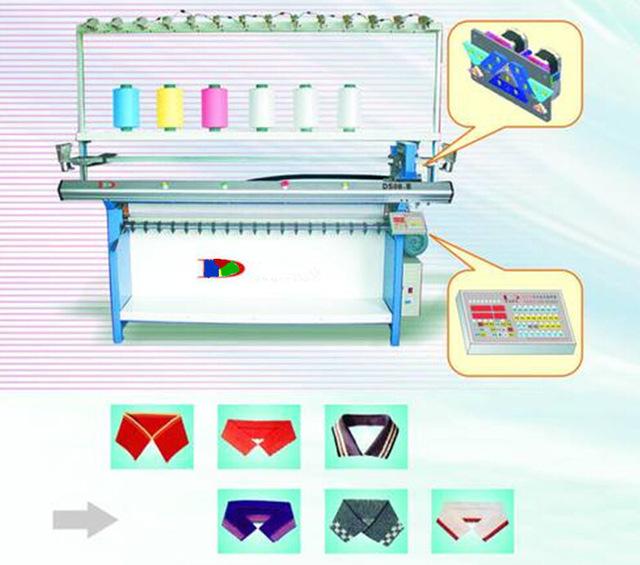 T shirt collar knitting machine / collar making machine.