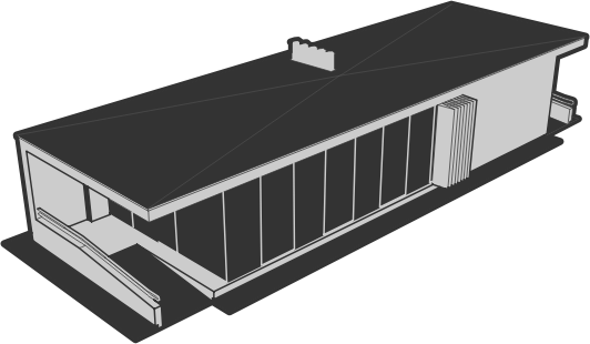 Flat roof clipart.