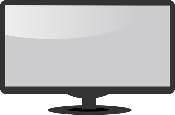 Flat screen tv clip art.