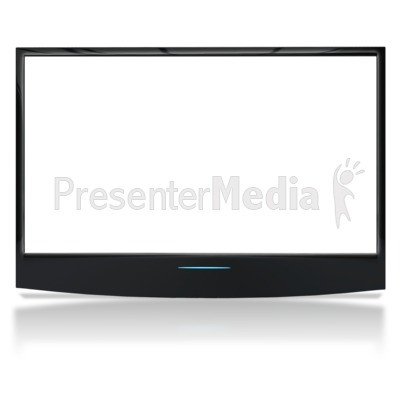 Flat Screen TV With See Through Screen.