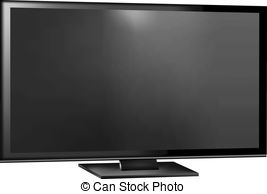 Flat screen television clipart.