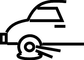 Free Flat Tire Clipart.