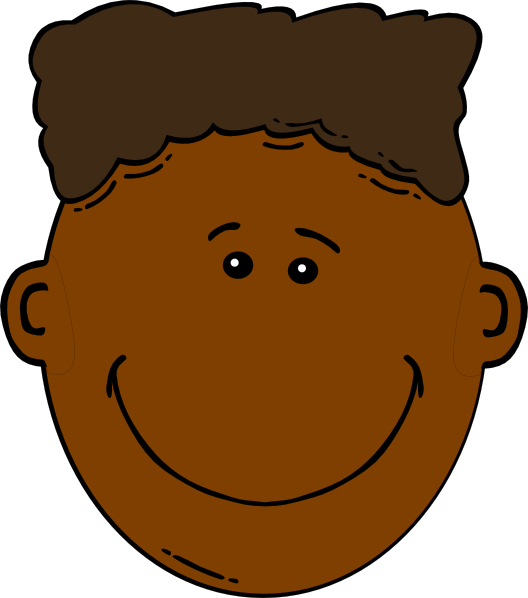 boy with flattop clip art.