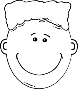 Boy Flat Top/ Afro Clip Art at Clker.com.