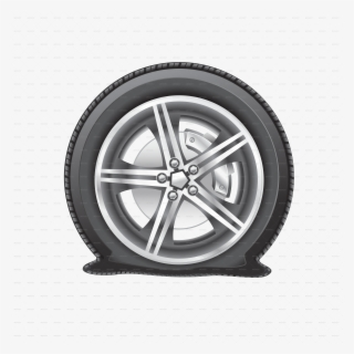 Free Flat Tire Clip Art with No Background.