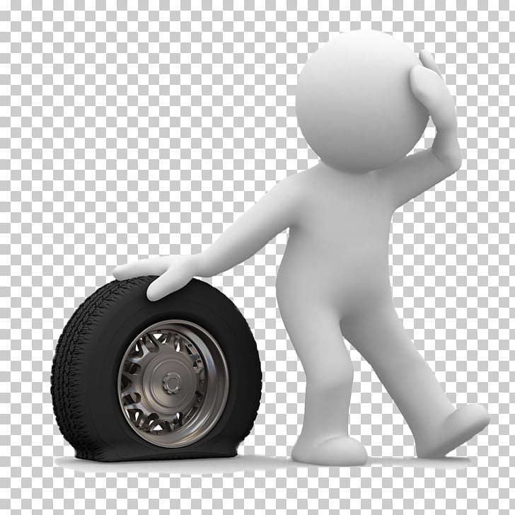 Car Flat tire Tow truck Roadside assistance, tyre PNG.