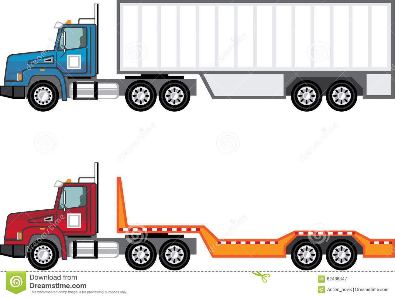 Flatbed Truck Stock Illustrations.