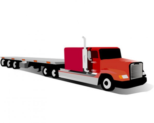 Flatbed trailer hitch clipart.