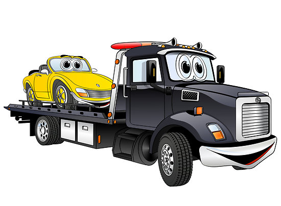 Simple tow truck clipart the cliparts.