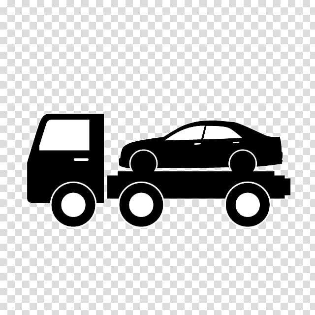 Car Tow truck Flatbed truck , car transparent background PNG.