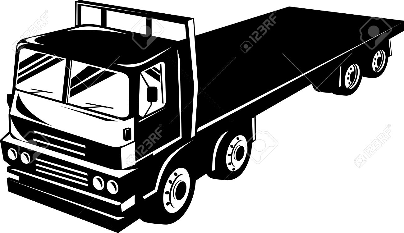 Clipart flatbed truck.
