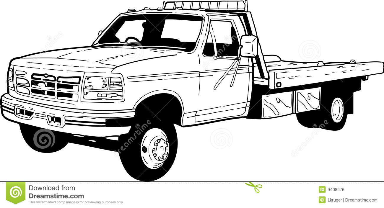 410 Tow Truck free clipart.