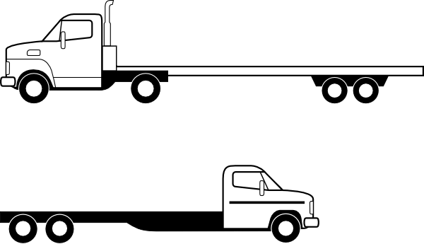 Flatbed trailer clipart.