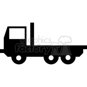 flatbed truck clipart. Royalty.