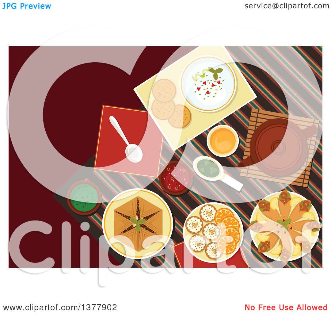 Clipart of Spicy Arabian Food, Chickpea Falafels, Wrapped in.