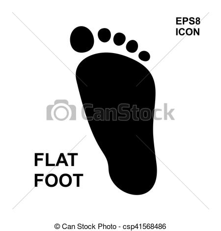 Vector of Flat foot icon.