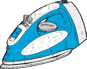 Flat iron clipart.