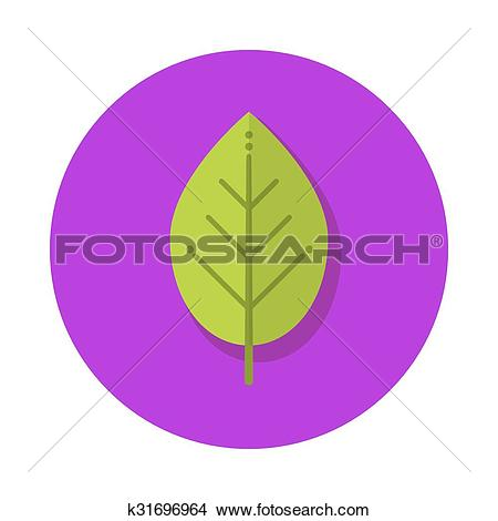 Clipart of Flat leaf icon k31696964.