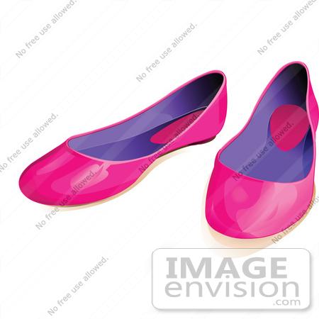 Flat Shoes Clipart.