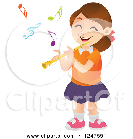 Cartoon flute clipart.