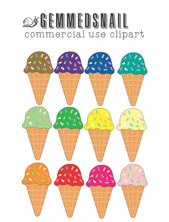 Ice cream clip art, ice cream clipart images in 12 lovely flavors.