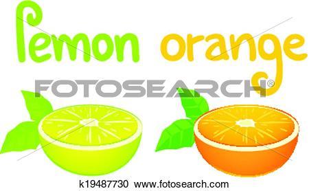 Clipart of Flavour lemon and orange k19487730.