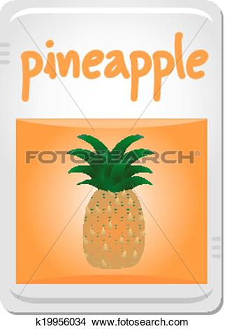 Clipart of Flavour pineapple k19956034.