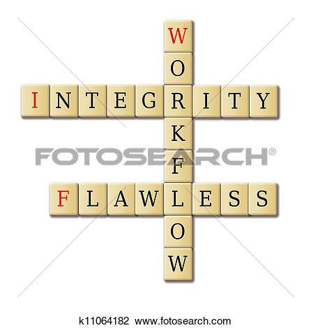 Clip Art of Flawless workflow crossword k11064182.