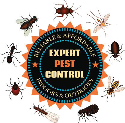 Pests fleeing clipart.