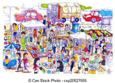 Flea market Stock Illustrations. 91 Flea market clip art images.